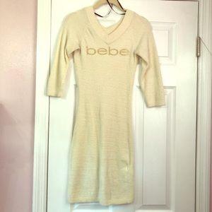 Chenille 3/4 sleeve Bebe sweater Midi dress